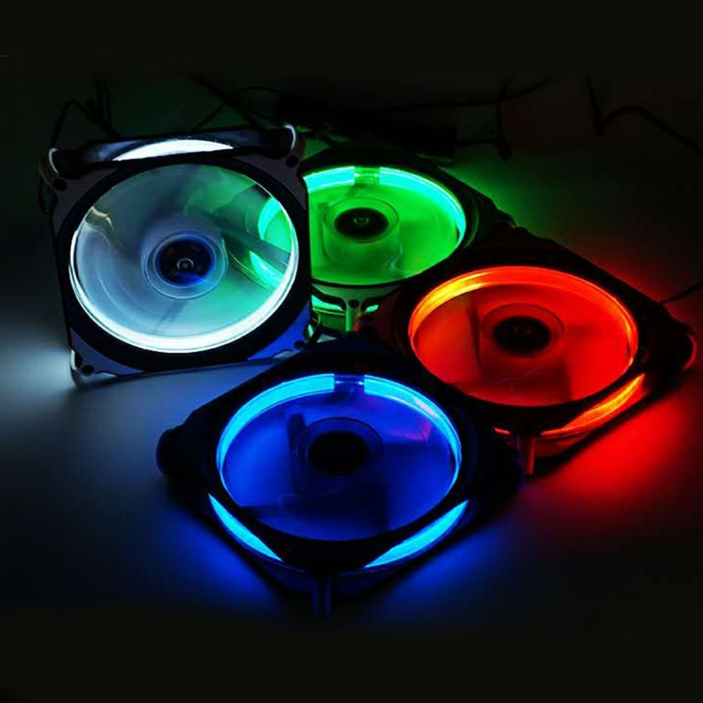 Eclipse <font><b>120mm</b></font> 120x120x25mm LED <font><b>Cooling</b></font> Cooler Desktop Computer Case <font><b>Fan</b></font> Lower Noise <font><b>Cooling</b></font> <font><b>Fan</b></font> <font><b>Silent</b></font> <font><b>Fan</b></font> For Desktop Computers image