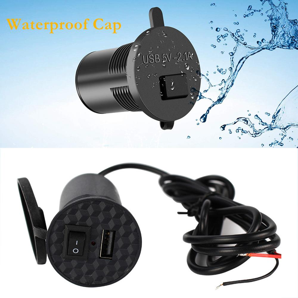 New 12-24V Universal USB Charger Motorcycle Power Adapter Socket Usb Charger Waterproof Auto Charger Adapter For Mobilephone GPS