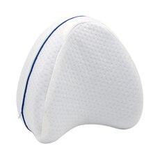 Pregnancy Body Memory Foam Pillow Orthopedic Knee Leg Wedge Pillow Cushion for Side Sleeper Sciatica Relief Christmas Gift