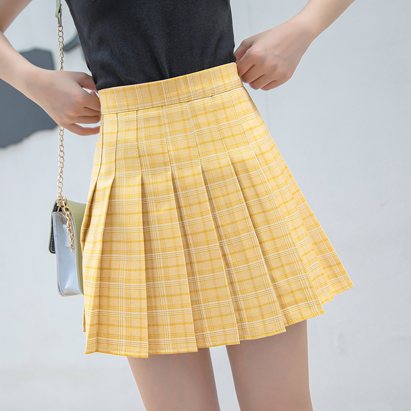 Women College Preppy Style Skirt Girls Plaid A-Line Empire Above Knee Mini Skirts Summer Fashion