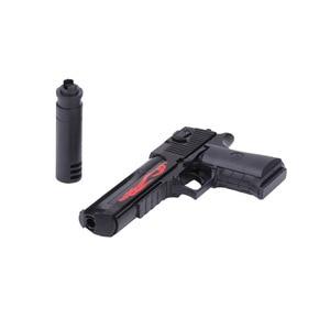 Military weapon gun toys building block Israel Desert Eagle Pistol assemble model with Muffler BB ball Bullet bricks collection