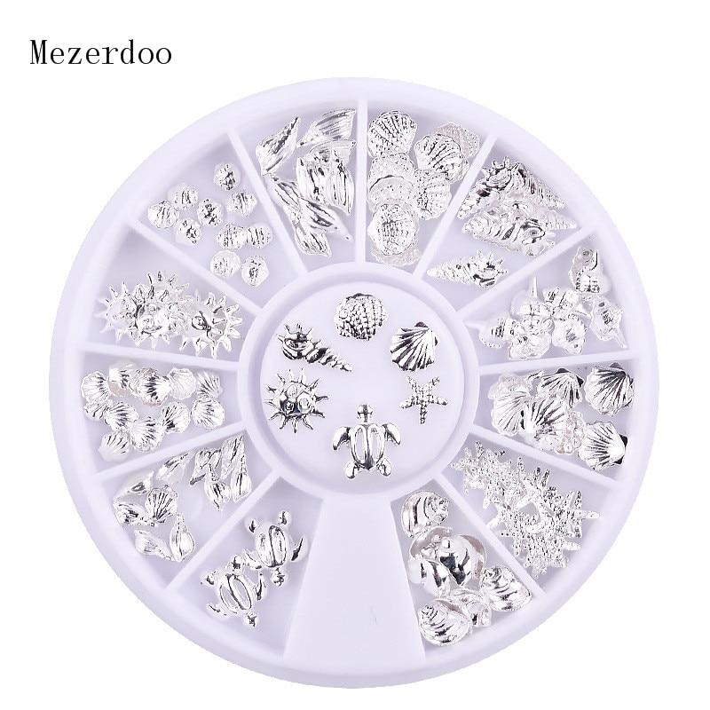 Купить 1 шт серебряный дизайн морских ракушек/морских звезд 3d украшения
