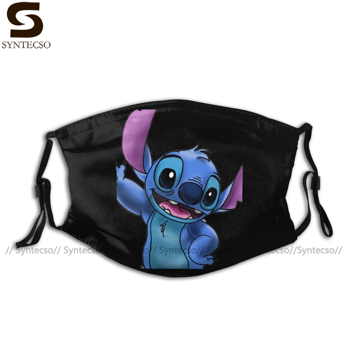 Stitch Lilo Mouth Face Mask Experiment Stitch Zoomed In Facial Mask Kawai Funny With 2 Filters For Adult