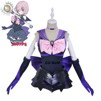 FGO Fate Grand Order Sailor Moon Mash Kyrielight Sailor Suit Jumpsuits Uniform Outfit Anime Cosplay Costumes
