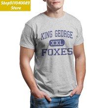 Короля Георга лисы среднего king футболка Любопытный Джордж
