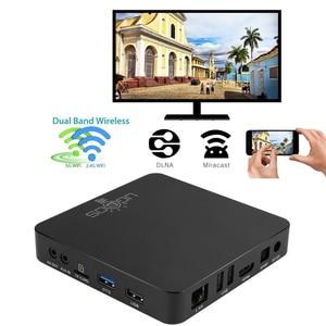 Image 4 - Ugoos am6 plus amlogic smart android 9.0 caixa de tv ddr4 4gb ram 32gb rom 2.4g 5g wifi 1000m lan bluetooth 4k hd media player