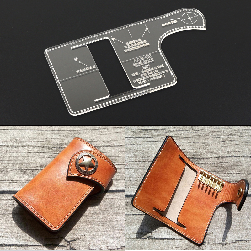 Handmade Leather Goods Drawing Key Package Edition Drawing Acrylic Version Handmade Leather Diy Plate Template