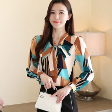 Korean Fashion Womens Tops and Blouses Spring Chiffon Women Shirts Office Lady Ladies Tops Plus Size Blusas Femininas Elegante