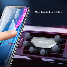 Car Phone Holder Air Vent Gravity Auto-Retractable Hands Free Stable Cradle Mount For IPhone Samsung Xiaomi