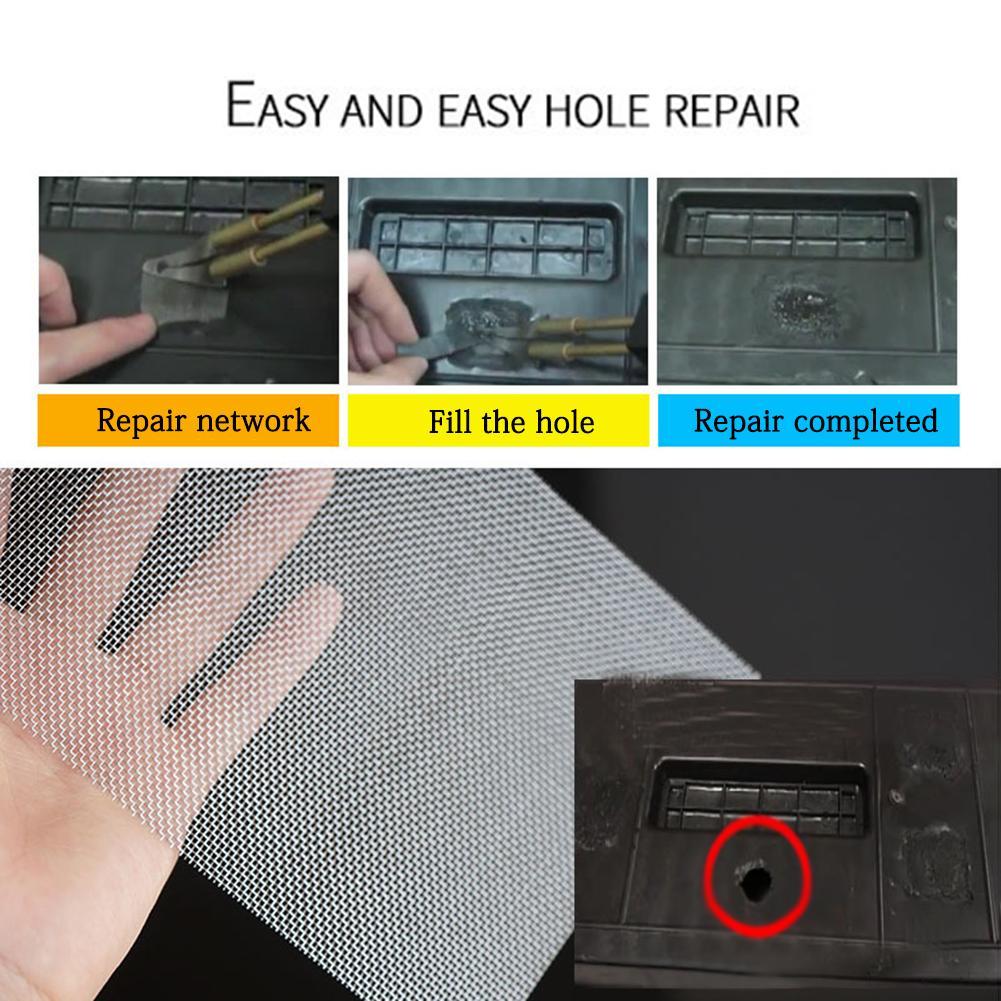 Mesh Front Fix Mesh Universal Repairing Mouldings Car Bumper Stainless Steel Grille Net Panels Glue Plastic Repair Fix