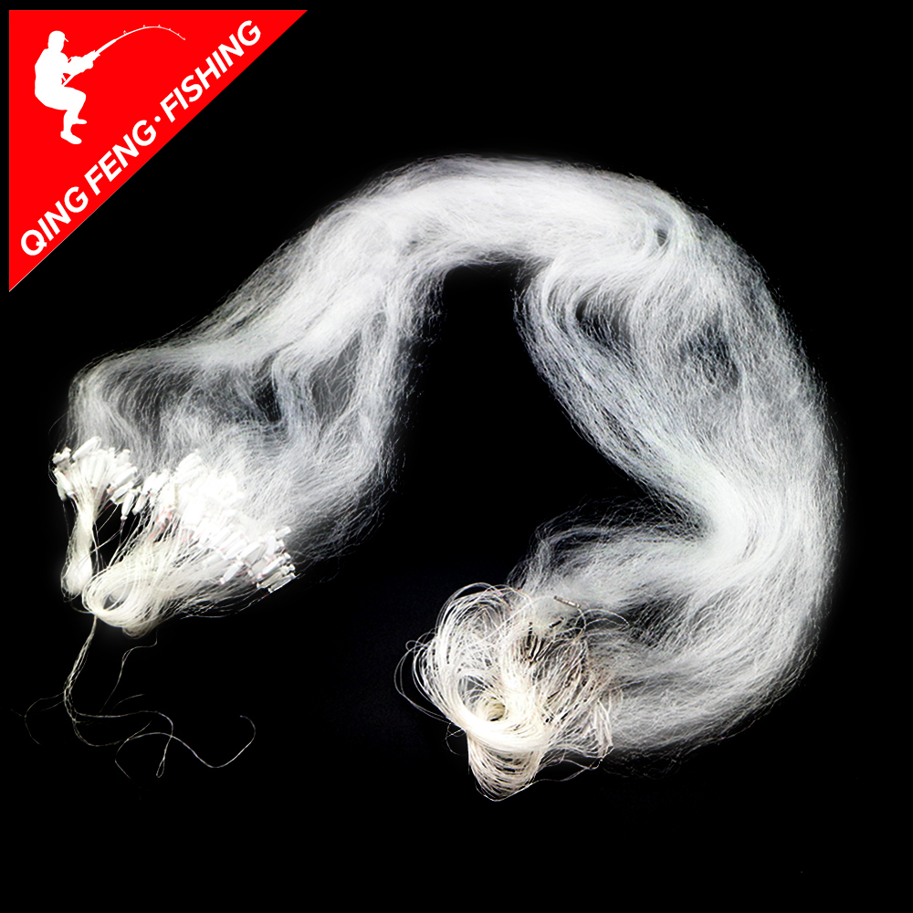 15m X 1.2m Fishing Net Single Mesh Nylon Durable Float Trap Monofilament Gill Net Fishing Accessories For Hand Casting