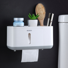 Toilet Paper Holder Plastic Phone Tray New Clip Tissue Box Waterproof Wall Mount Rack Shelf Bathroom