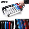 Car Styling For BMW X3 x4 f25 f26 g01 g02 Accessories Head Front Grille For M Sport Stripes Grill Covers Cap Frame Auto Stickers 3