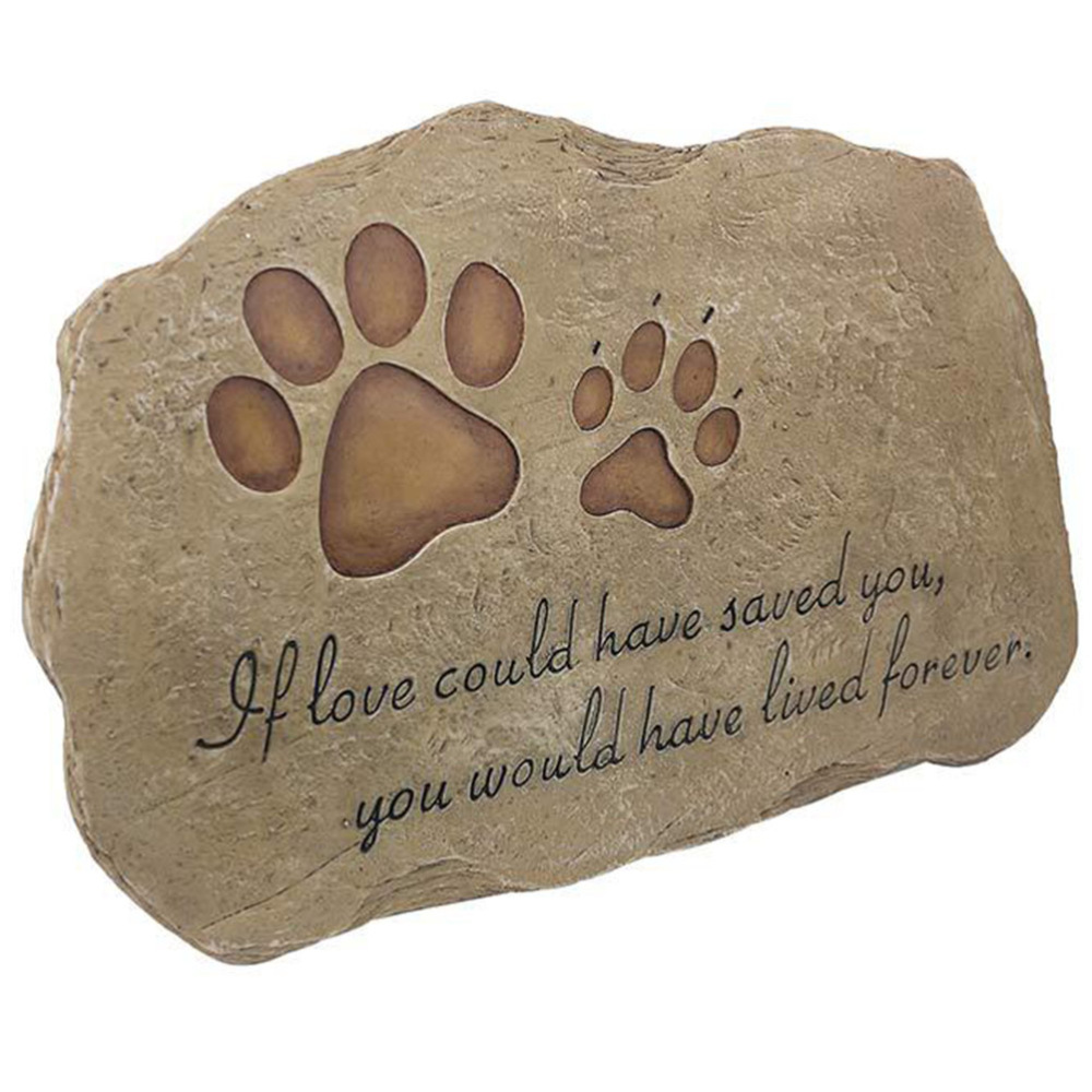 Puppy Gravestone Pet Memorial Stone Grave Pet Tombstone Memorial Ornament