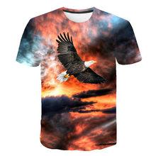 SUMMER 2021 NEW! Popular 3D Short Sleeve Cute Eagle Print Men T-shirt Hip-hopFashion Popular Breathable T-shirt hip hop t-shirt