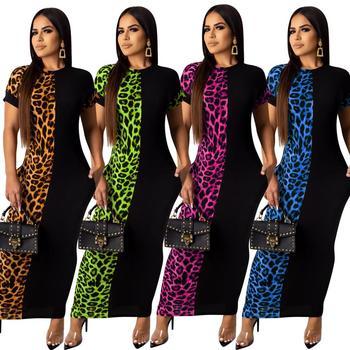Mirsicas Fashion Leopard Print bodycon Maxi dress