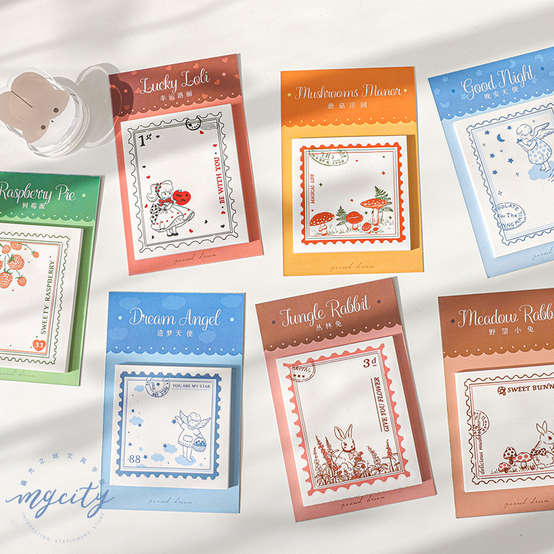 1set/lot Memo Pads Sticky Notes Stamp Old Series Dream Paper Diary Scrapbooking Stickers Office School Stationery Notepad