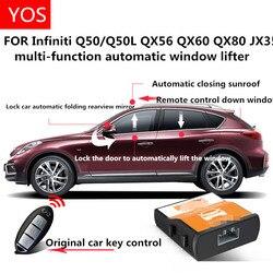 Автоматический оконный доводчик для Infiniti QX50 Q50L QX56 QX60 QX80 JX35 зеркало заднего вида автоматическая складная модификация