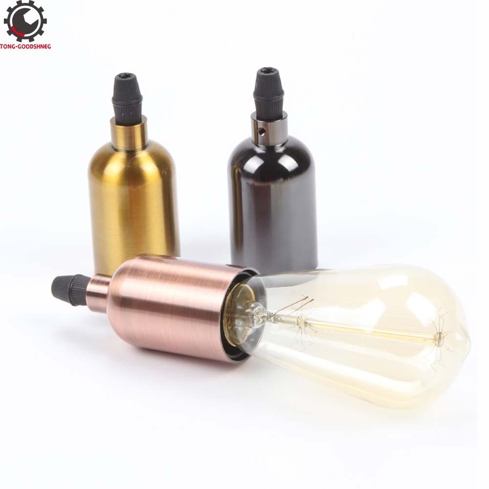 Vintage Edison Pendant Light E27 Screw Bulb Base Holder Douille  E27 Lamp Socket патрон  Lamp Holder Retro Fittings Soquete Lam