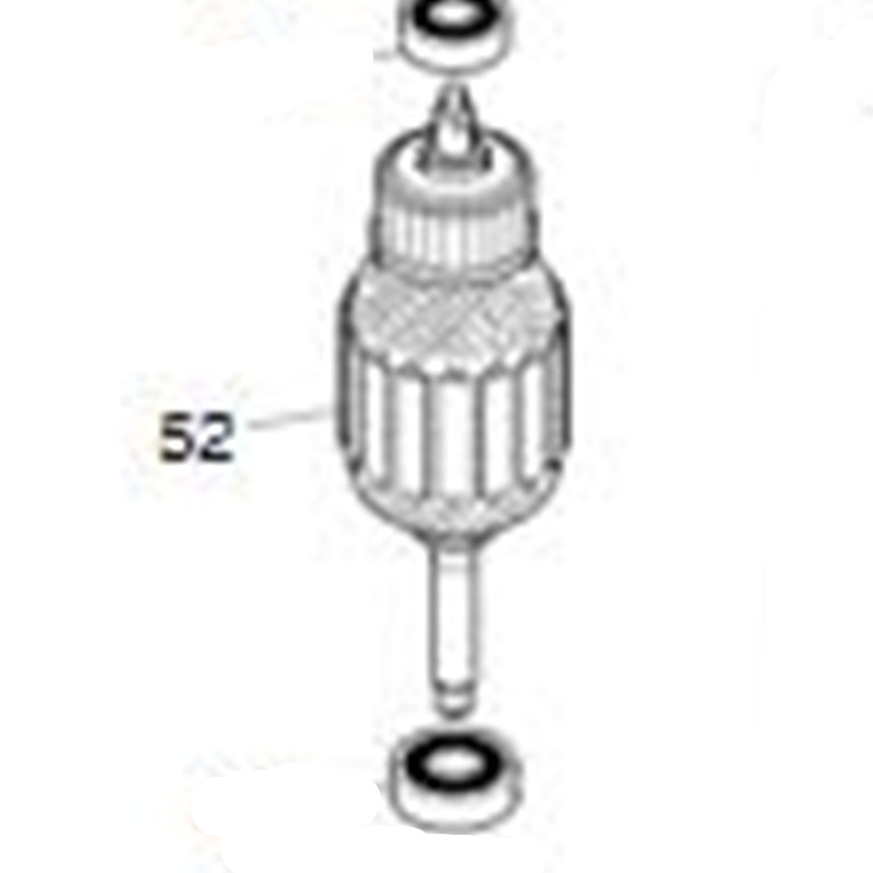 AC220-240V MAKITA  518745-1  Rotor Motor Armature For DA4000LR  DA4000 Rotor