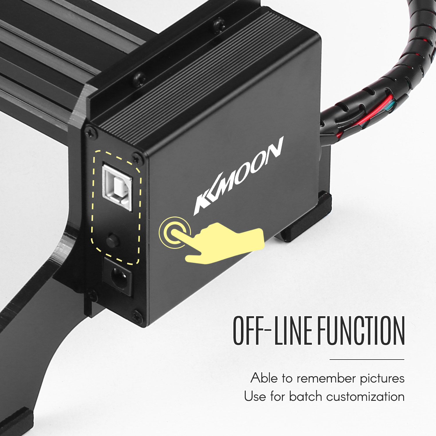 Hot <font><b>20W</b></font> Upgrated DIY USB CNC Router <font><b>Laser</b></font> Engraver <font><b>Laser</b></font> Engraving Printer Machine <font><b>Cutting</b></font> Carver Off-line Location Operation image