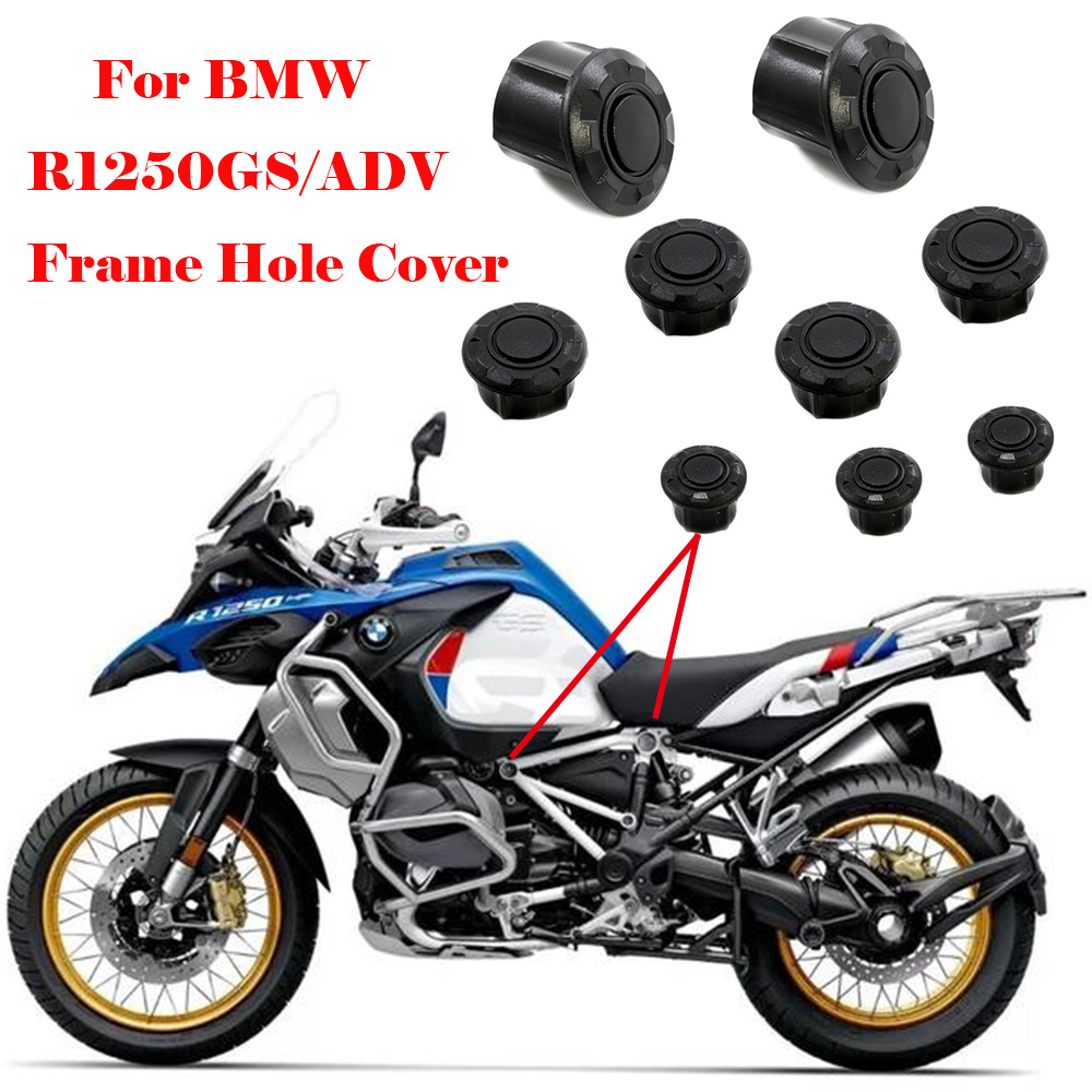 Couvercle de trou de cadre pour BMW R1250GS LC R1250GS R1200GS Adventure adv 2019, bouchon de cadre décoratif, ensemble d'accessoires de moto
