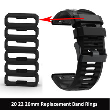 20 22 26mm For Garmin Fenix 6 6s 6X Pro Loop Rubber Silicone Smart Watch Band Ring Accessories For Garmin Fenix 3/3 HR/5X plus(China)