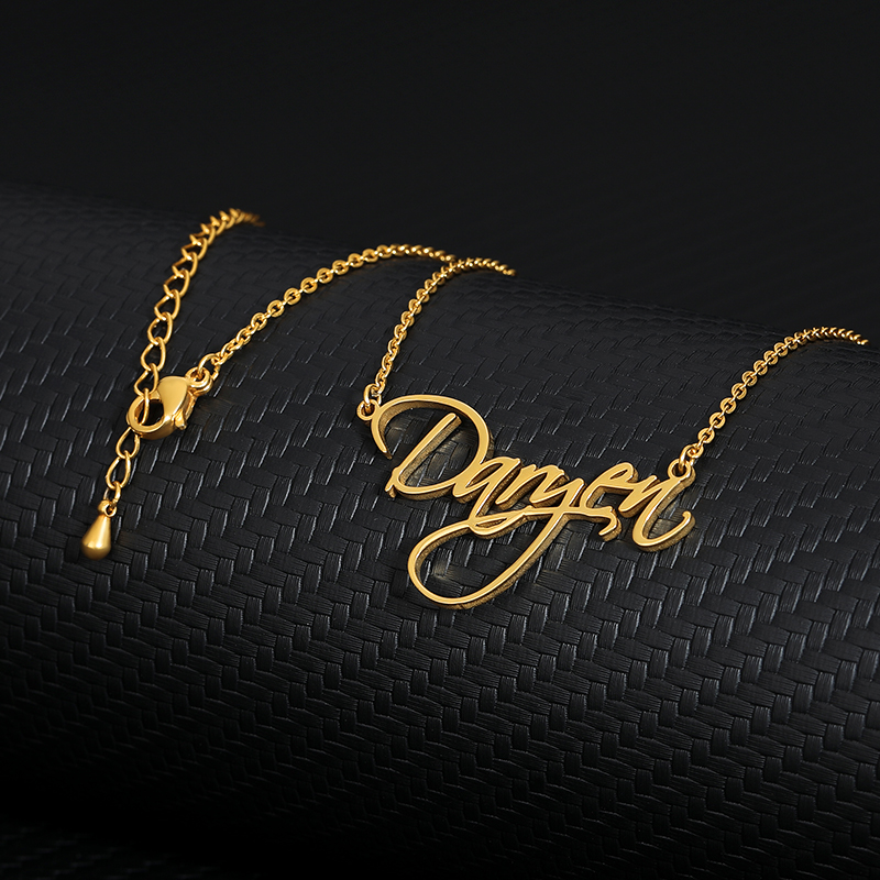 Custom Actual Handwriting Name Necklace for Women Gold Chain Cursive Signature Pendant Choker Necklace Personalized Gift For Mom