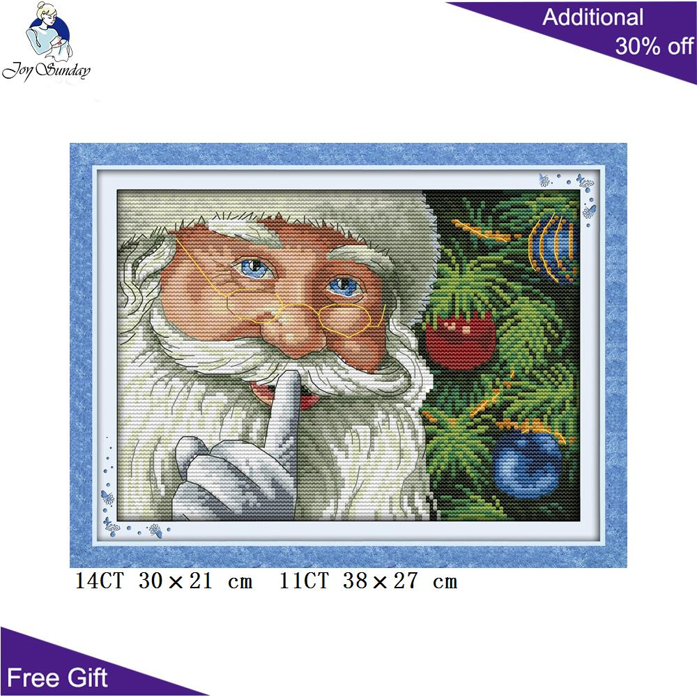 Your Gift Santa Claus Cross Stitch <font><b>R308</b></font>(3) 14CT 11CT Counted and Stamped Home Decoration Happy Christmas Cross Stitch kits image