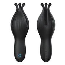 OMYSKY Male Masturbator Penis Massage Vibrator for Men Dick Stimulator USB Charge Glans Massage Toy Waterproof Adult Toy for Men