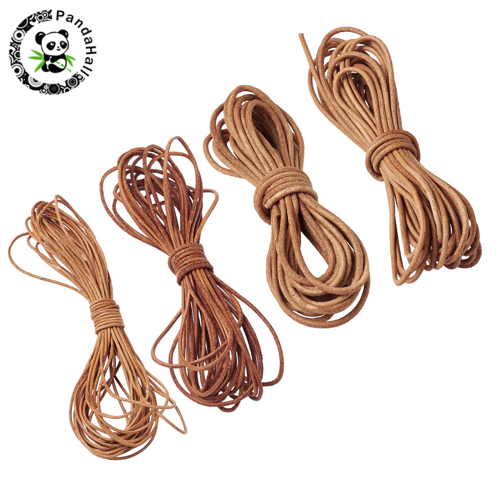 Cowhide Leather Cord 1mm 1.5mm 2mm 3mm Black Brown Leather Jewelry Bracelet Necklace Cord Material For Jewelry Making DIY 5m