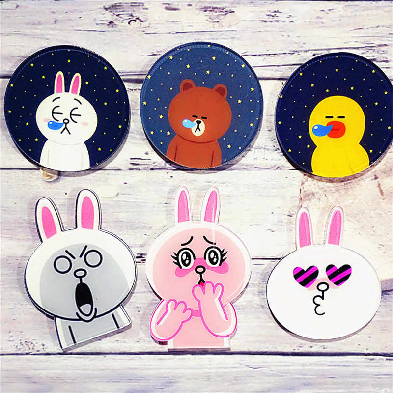 1PC Del Fumetto Animale Spilla Acrilico Orso Coniglio pin Distintivi e Simboli Cute Fashion Mini Anime Icone sullo Zaino Anatra Distintivi e Simboli regali Gingillo