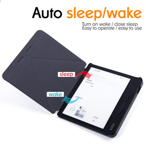 Image 2 - Умный чехол BOZHUORUI для чтения электронных книг Kobo Forma 8 дюймов, многоугольный чехол подставка Премиум из искусственной кожи с функцией автоматического сна/пробуждения