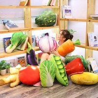 Creative Model Strawberry Durian Pineapple & Vegetable Fruit Pillow Cushion Office Nap Lying Pillow Decoration Props