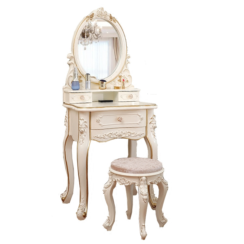 European-style Dressing Table Multi-functional Princess Bedroom Mini Modern Simple Makeup Table Makeup Table Makeup Cabinet