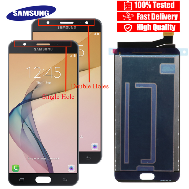 """100% New Original 5.5"""" LCD For Samsung Galaxy J7 Prime G610 G610F On7 2016 G6100 Display Touch Screen Assembly+service package"""