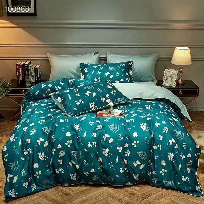 bedding set spell tencel four piece quilt cover sheets set tencel satin bedding sheet pillow cases duvet cover