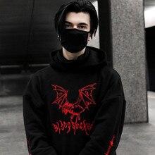 Maoxzon 남성 트렌디 프린트 자수 후드 티 스웨터 남성 가을 뉴 캐주얼 조깅 운동가 후드 풀오버 겉옷