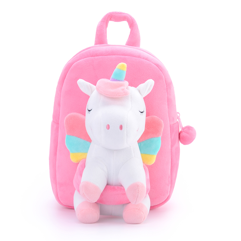 Gloveleya Plush Backpacks Shoulder-Bag Unicorn Stuffed Animal 3D Cartoon Plush School Bag Cute Cartoon Dolls Soft Baby Toys