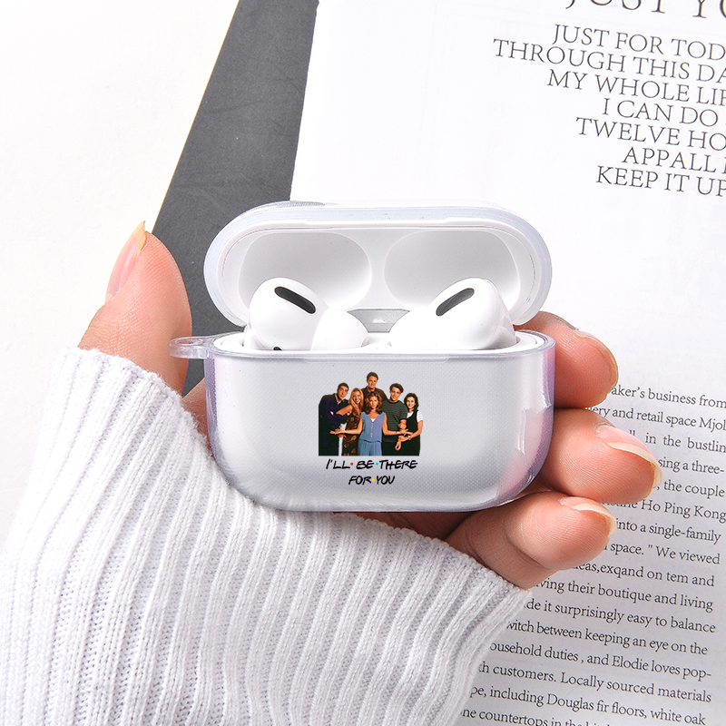 Soft Crystal Case For Apple airpods 1 2 case Friends TV Series Earphone Case For Airpods Pro Headphone Silicone Protective Case image