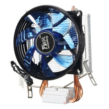 LED Fan Cooler Core LED CPU Quiet Fan Cooler Heatsink for Intel Socket LGA1156/1155/775 AMD AM3 Bottom bracket 0.23A 12V DC