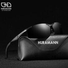 HURAMANN Sunglasses Men Polarized Semi-Rimless