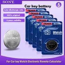 Batterie Lithium 3V pour montre, 5 pièces, pour clé de voiture, jouet, bouton de télécommande, pièce de monnaie, nouvelle collection SONY CR2025, 3V, CR 2025, dl2022, br2022, KCR2025