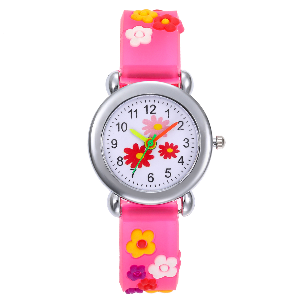 Fashion Kids Flower Silica Gel Watches Children Cartoon Watch Silicone Kids Watch Christmas Gift Sports Relogio Infantil Reloj