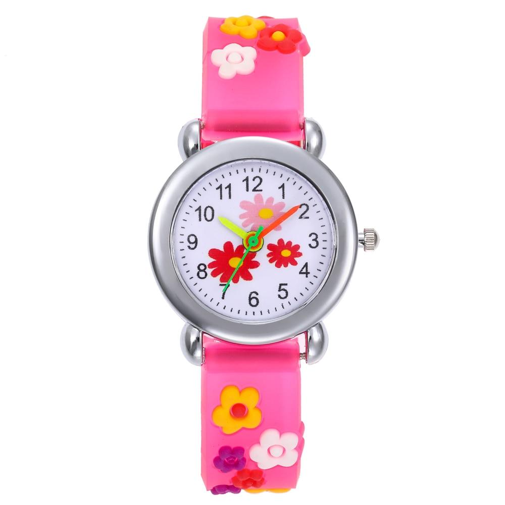 Fashion Kids Flower Silica Gel Watches Children Cartoon Watch Silicone Kids Watch Christmas Gift Sports Relogio Infantil Reloj