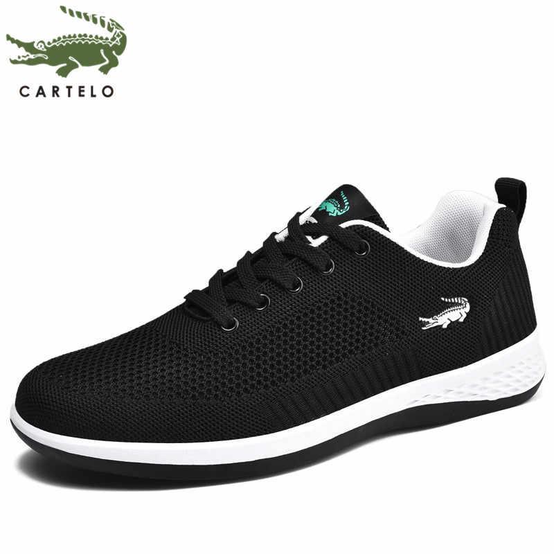 CARTELO 남자 신발 여름 캐주얼 신발 남자 패션 한국어 통기성 그물 신발 스 니 커 즈 남자