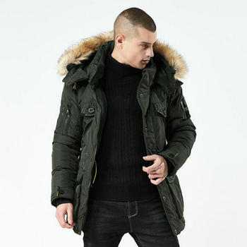 High Quality Winter Jacket Men Nice Fashion Stand Collar Male Parka Jacket Mens Solid Thick Jackets And Long Coat Man Parkas 3XL