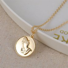 Vienkim New Cute Buddha Pendant Chain Necklace 2019 Simple Gold Round Choker Necklaces for Women Femme Birthday Jewelry Gifts(China)