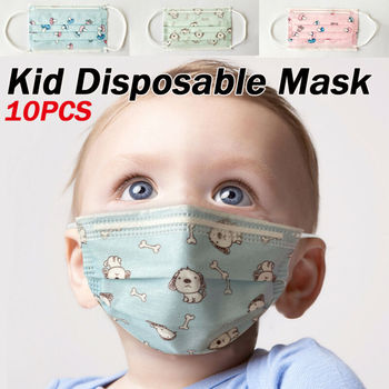 10pcs Kid Children Cartoon Cotton Non-woven Face Mask Anti-flu Anti-dust Standard Proof Safety Protective Cute