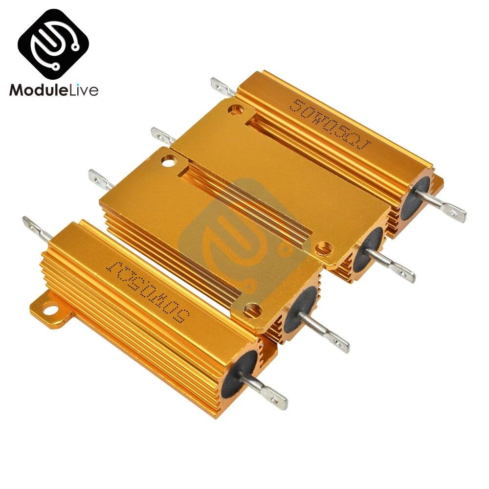 1pcs 5 Ohm 5R 50W Watt Power Metal Shell Case Wirewound Resistor 5/%